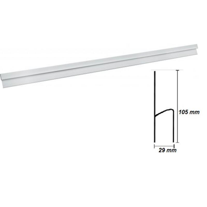 Dreptar aluminiu profil H * 1.0 m